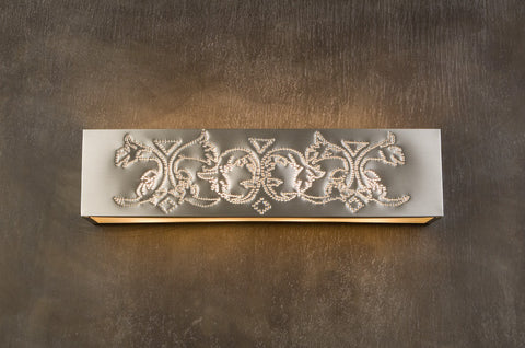 Vanity Light -VAL, Flowers design, Natural Tin