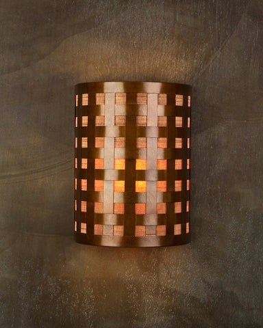 Wall Sconce - WS-OW, Ferric patina, Amber Mica