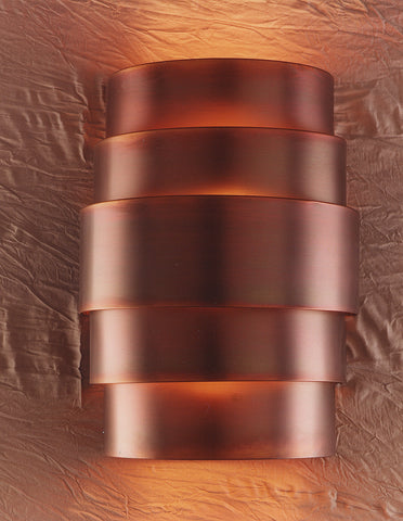 Wall sconce-WSQ, Iridescent patina