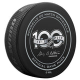 Tampa Bay Lightning Official NHL Centennial Game Puck - 2017