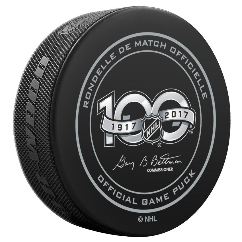 San Jose Sharks Official NHL Centennial Game Puck - 2017