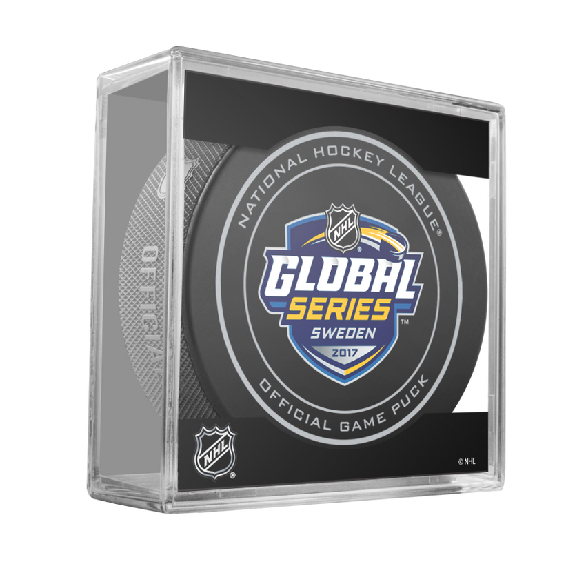 2017 NHL Global Series Sweden Official Game Puck