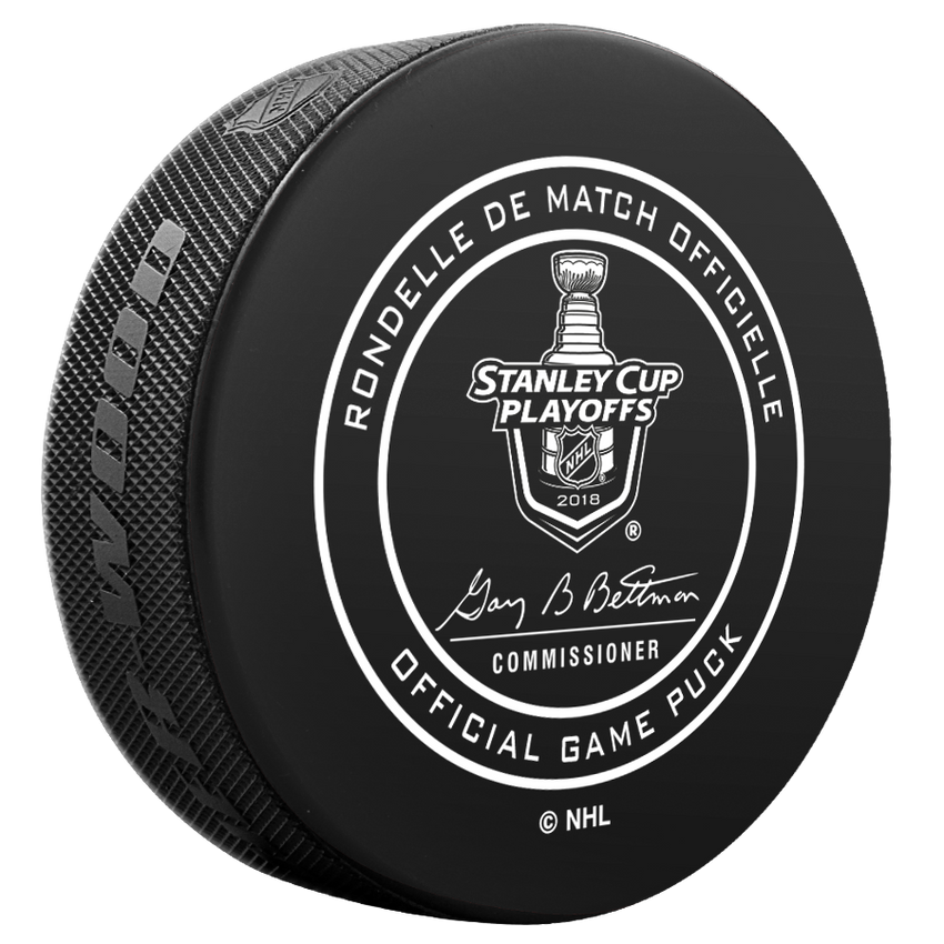 2018 San Jose Sharks Stanley Cup Playoffs Official Game Puck