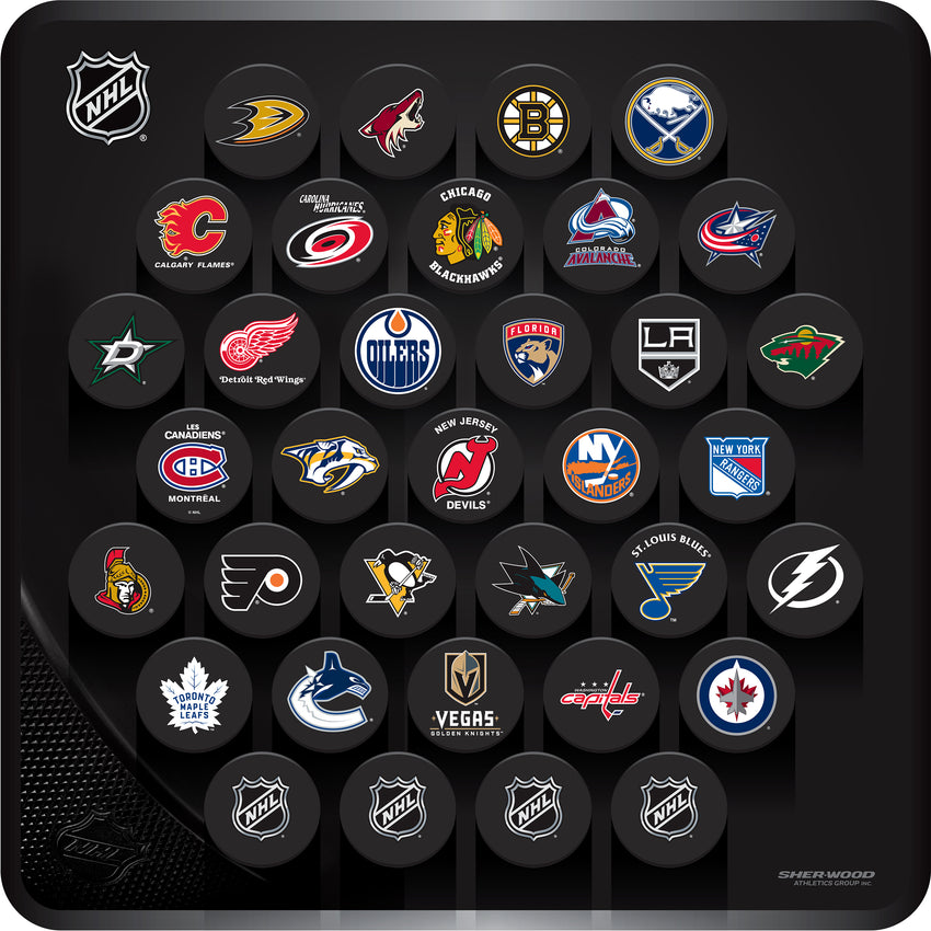 NHL Square Wall Plaque - 35 Pucks
