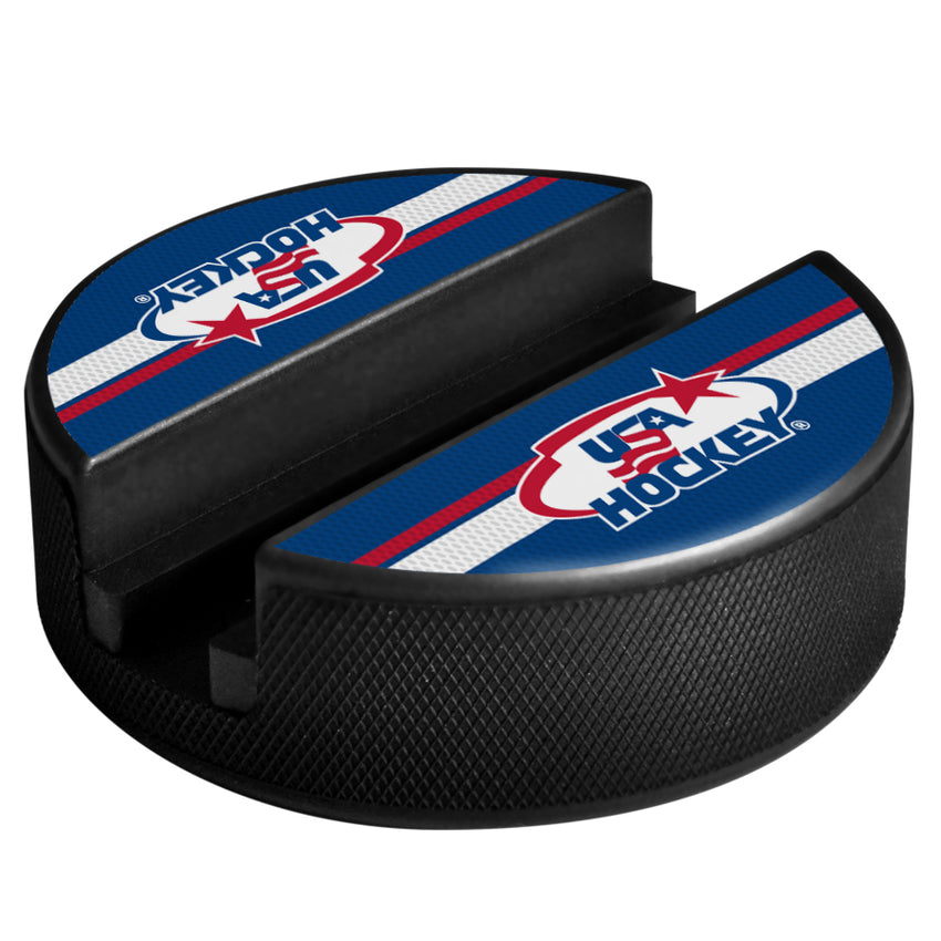 Official USA Hockey Media Puck Holder