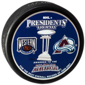 NHL President Trophee 2000-01 Colorado Avalanche Puck