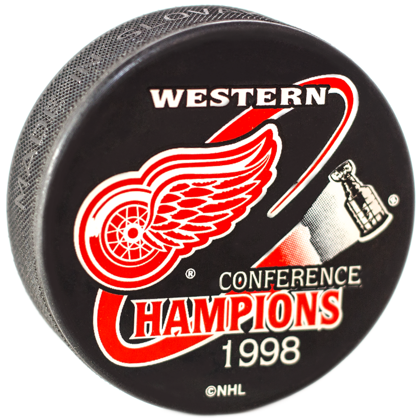 NHL Western Conference Champions 1998 Detroit Red Wings Puck