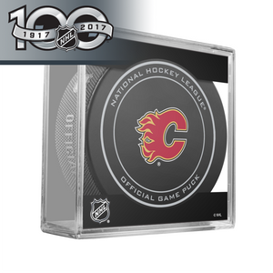 Calgary Flames Official NHL Centennial Game Puck - 2017