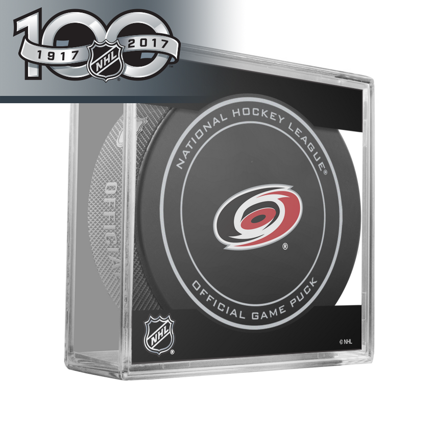 Carolina Hurricanes Centennial Official Game Puck - 2017