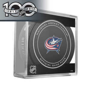 Columbus Blue Jackets Official NHL Centennial Game Puck - 2017