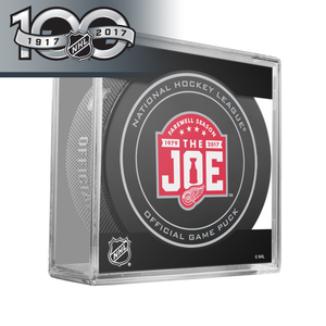 Detroit Red Wings Farewell Season at the Joe and NHL Centennial Game Puck - 2017