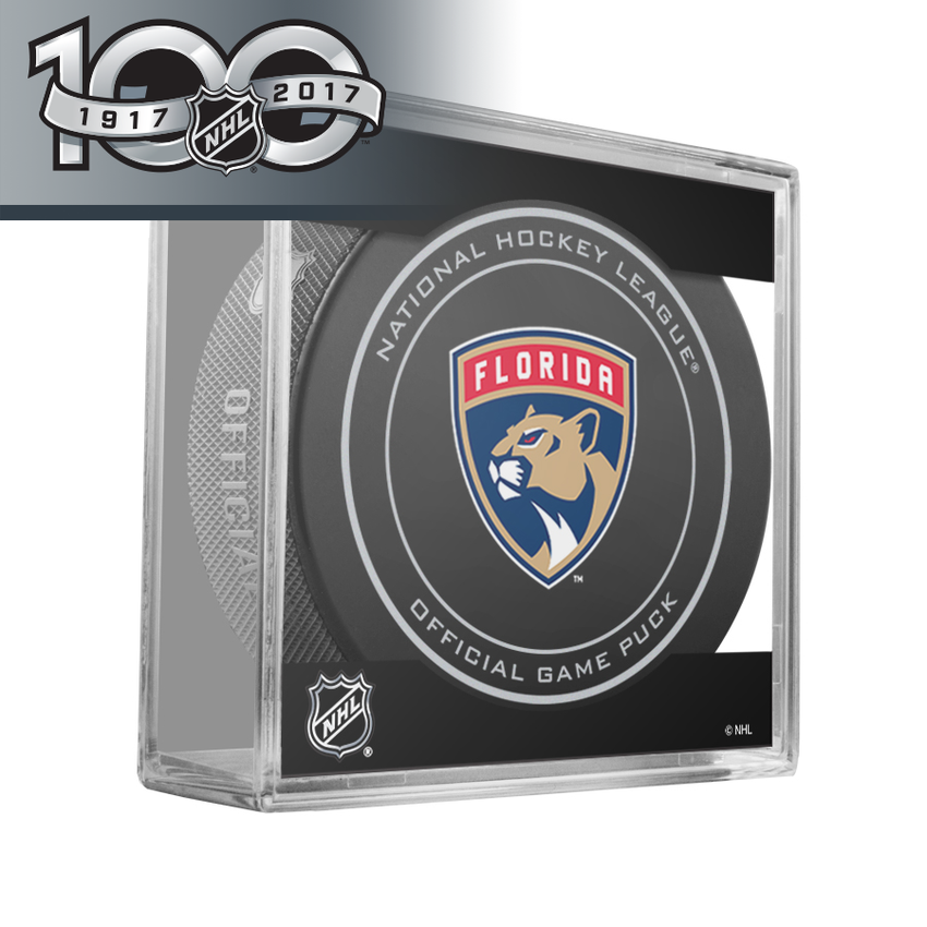 Florida Panthers Official NHL Centennial Game Puck - 2017