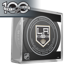 Los Angeles Kings 50th Anniversary and Official NHL Centennial  Game Puck - 2017