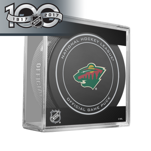 Minnesota Wild Official NHL Centennial Game Puck - 2017