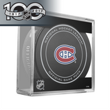 Montreal Canadiens Official NHL Centennial Game Puck - 2017