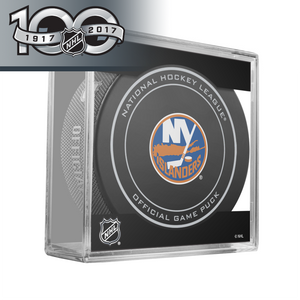 New York Islanders Official Centennial Game Puck - 2017
