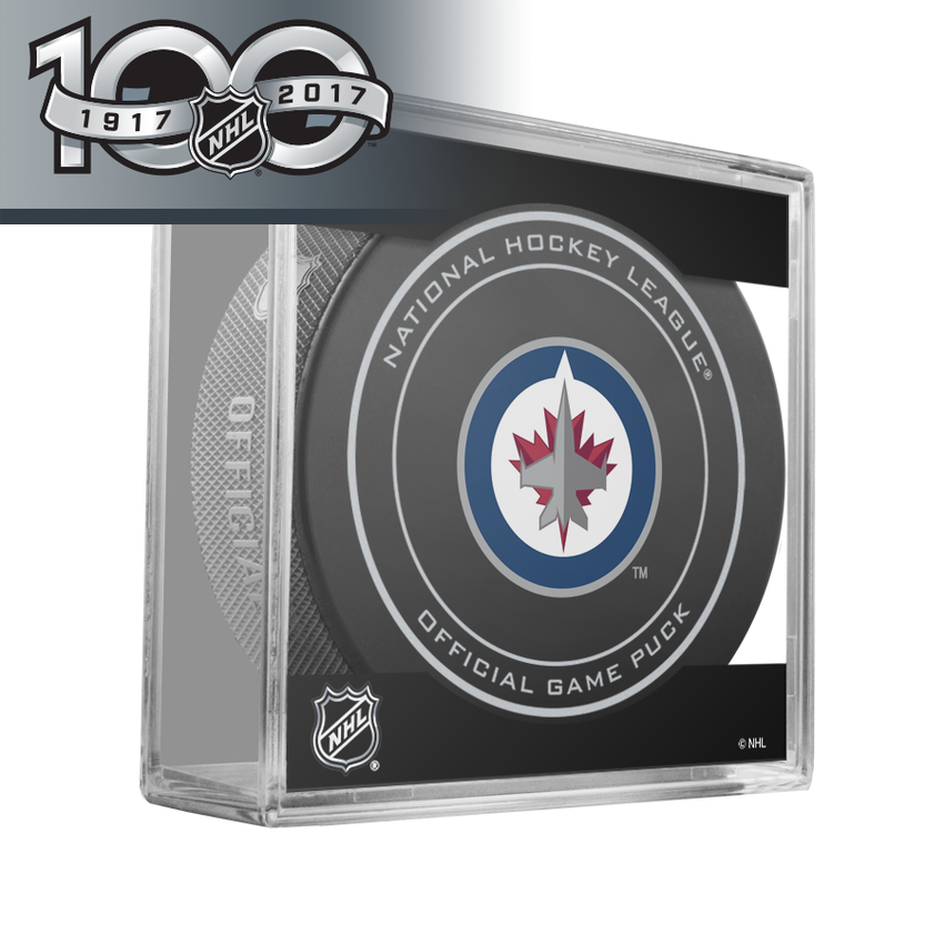 Winnipeg Jets Official NHL Centennial Game Puck - 2017