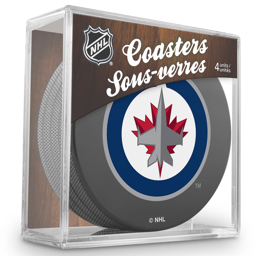 Official NHL Winnipeg Jets Knights Coaster Cube