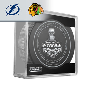 2015 Stanley Cup Final - Game 4 Official Game Puck