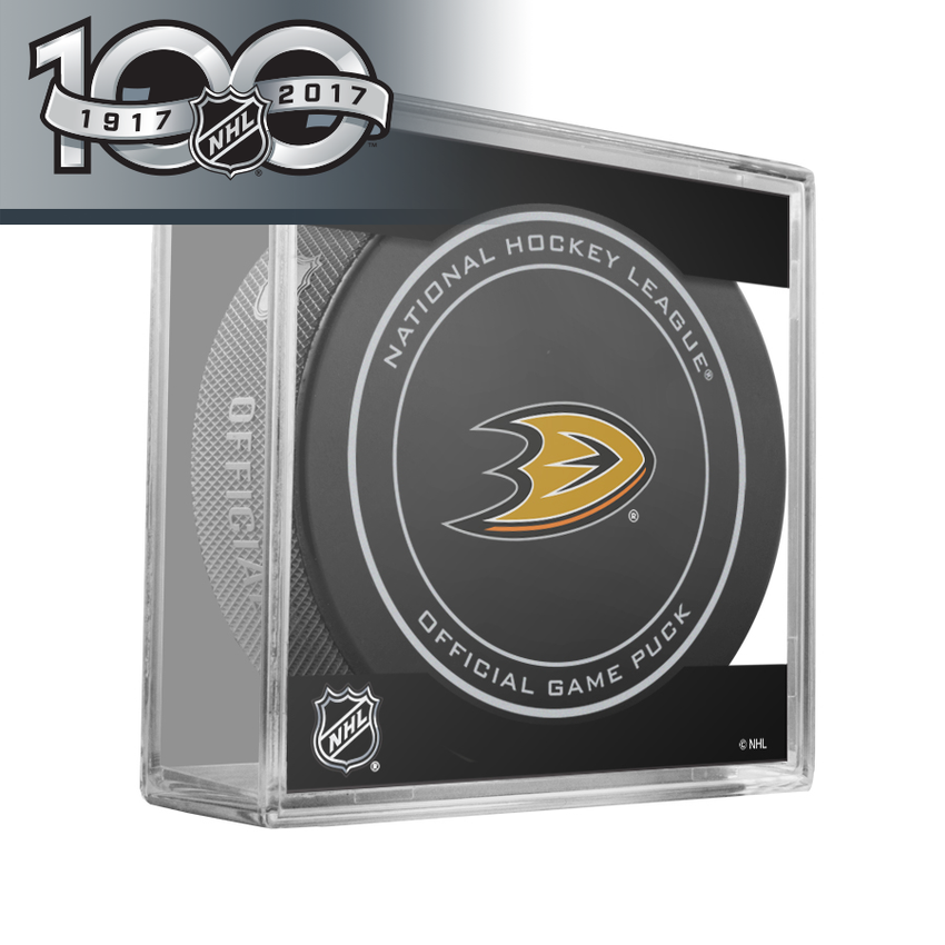 Anaheim Ducks Official NHL Centennial Game Puck - 2017