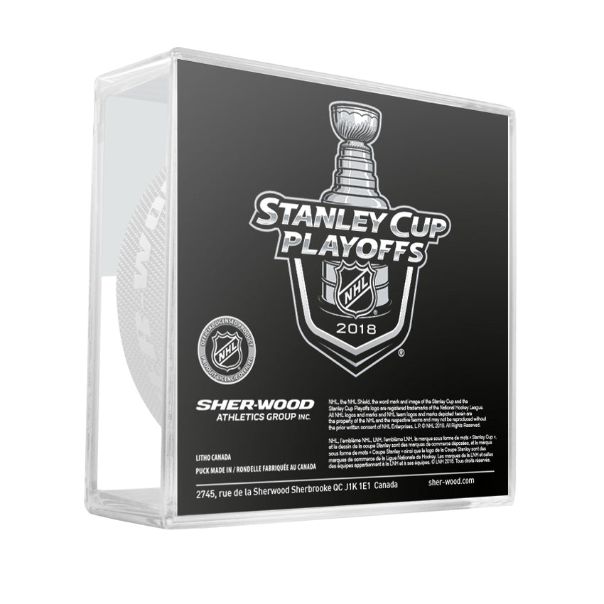 2018 New Jersey Devils Stanley Cup Playoffs Official Game Puck