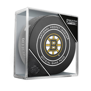 2018 Boston Bruins Stanley Cup Playoffs Official Game Puck