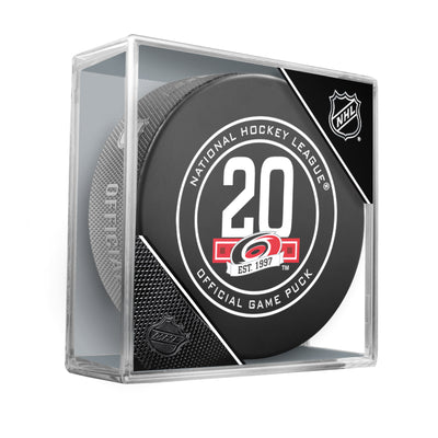 Carolina Hurricanes 20th anniversary 2018 Official NHL Game Puck