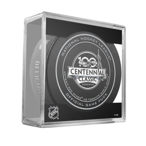 NHL Centennial Classic Game Puck