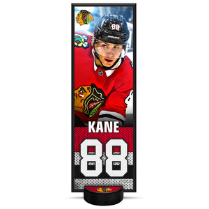 Patrick Kane #88 NHLPA Decorative Plaque With Puck Holder