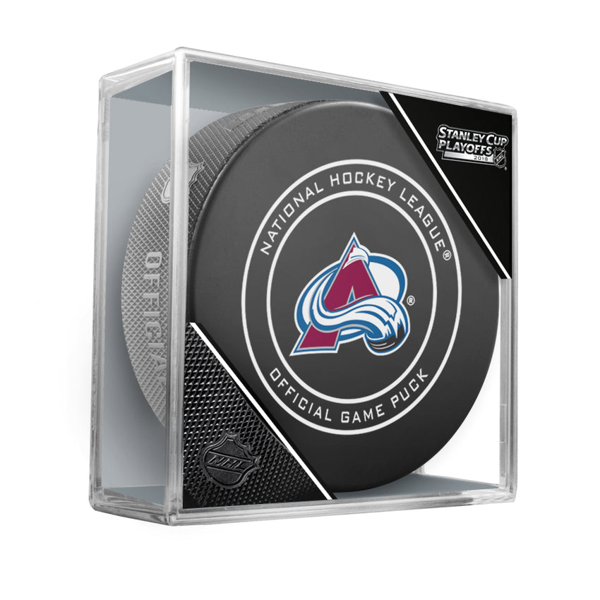 2018 Colorado Avalanche Stanley Cup Playoffs Official Game Puck