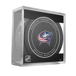 Columbus Blue Jackets Official Game Puck (2012 to 2016)