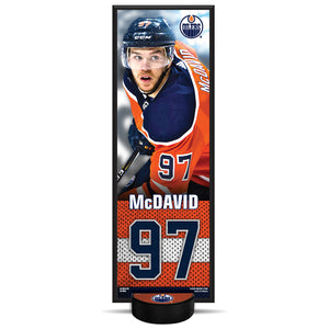 Connor McDavid #97 NHLPA Decorative Plaque With Puck Holder