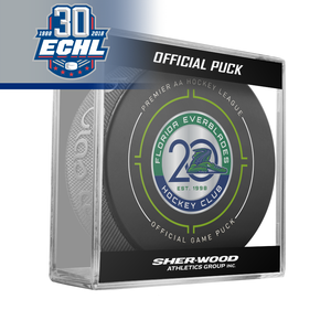Florida Everblades Official Puck ECHL 30th Anniversary