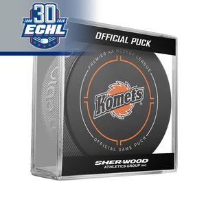 Fort Wayne Komets Official Puck ECHL 30th Anniversary