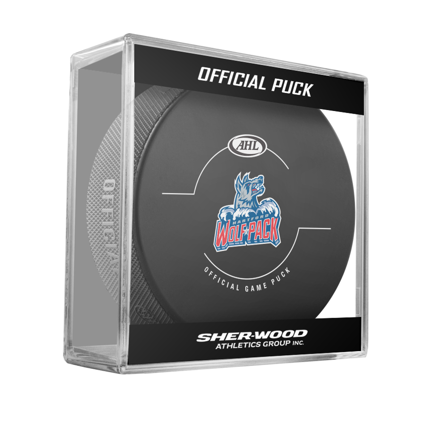 Hartford Wolf Pack Official Game Puck -2017