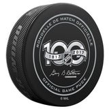 Pittsburgh Penguins 50th Anniversary and NHL Centennial Game Puck - 2017