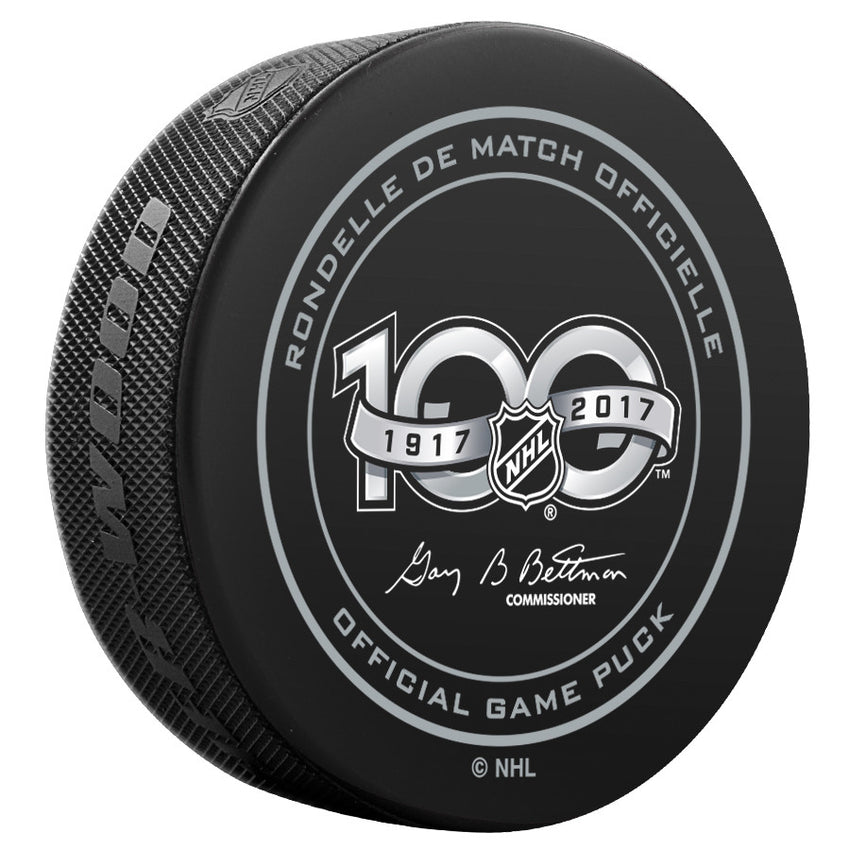 Vancouver Canucks Official NHL Centennial Game Puck - 2017