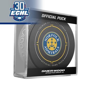 Norfolk Admirals Official Puck ECHL 30th Anniversary