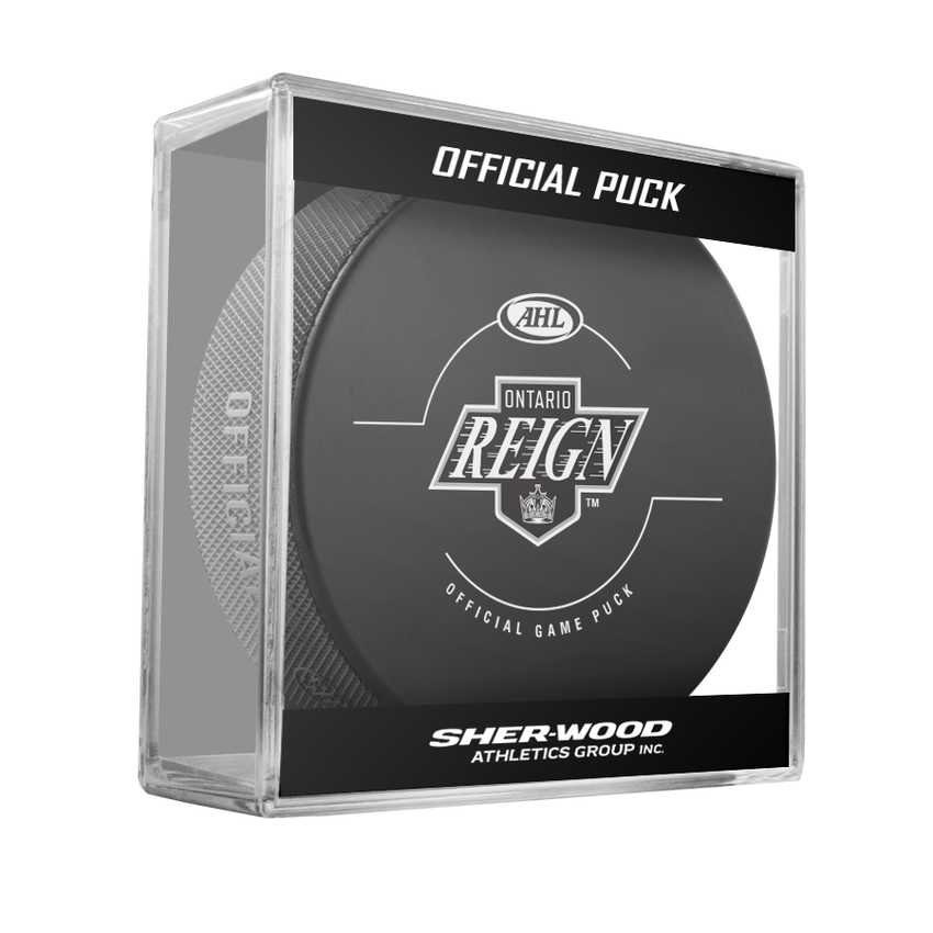 Ontario Reign Official Game Puck -2017