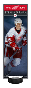 NHL Alumni Steve Yzerman Deco Plaque With Puck Holder