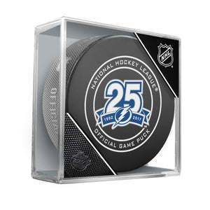 Tampa Bay Lightning 25th anniversary 2018 Official NHL Game Puck