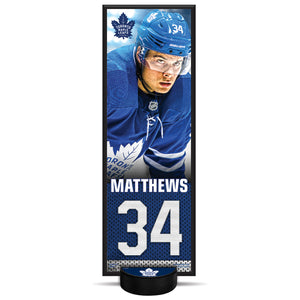 Auston Matthews #34 NHLPA Decorative Plaque With Puck Holder