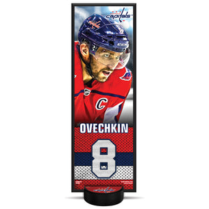 Alex Ovechkin #8 NHLPA Decorative Plaque With Puck Holder