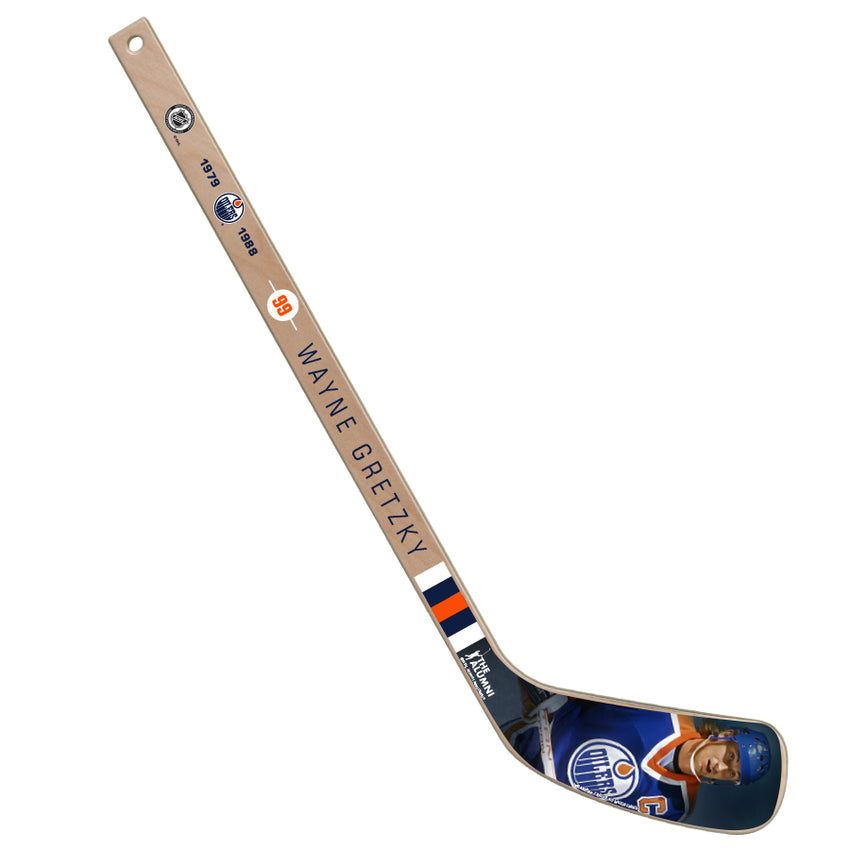 NHL Alumni Wayne Gretzky Mini Wooden Player Stick