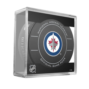 Winnipeg Jets Official Game Puck -2011