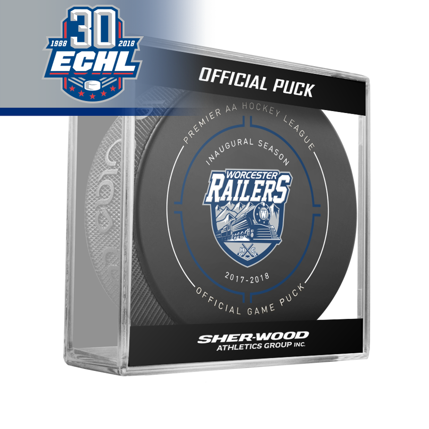 Worcester Railers Official Puck ECHL 30th Anniversary