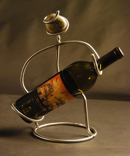 one bottle table decanter with a man pouring