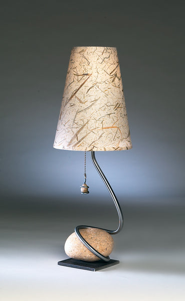 one stone swirl table lamp 4″ base