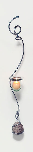 medium long wall votive candle holder