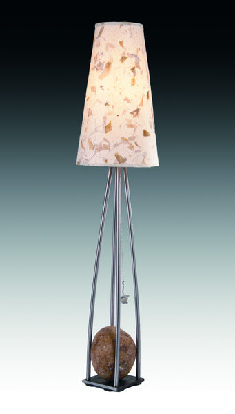 pyramid table lamp with one stone